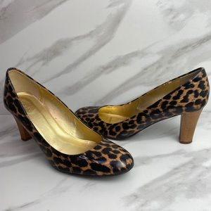 J.Crew Animal Print Leather Pumps